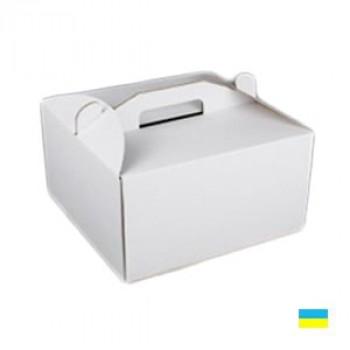 Коробка тортовая 300х300х250 микрогофры. картон 2 ч.