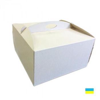 Коробка тортовая 310х410х180 микрогофр. картон 2 ч.
