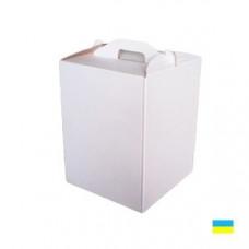 Коробка тортовая 300х300х400 микрогофр. картон 2 ч.