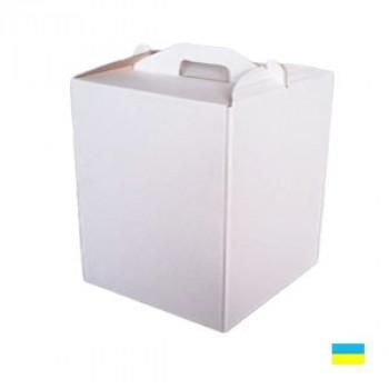 Коробка тортовая 400х300х400 микрогофр. картон 2 ч.