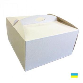 Коробка тортовая 400х400х300 микрогофр. картон 2 ч.
