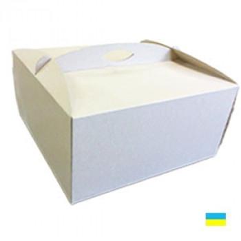Коробка тортовая 450х450х210 микрогофр. картон 2 ч.