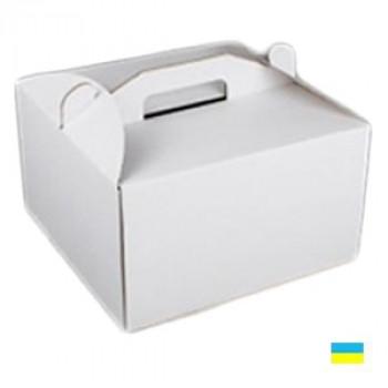 Коробка тортовая 440х440х425 микрогофр. картон 2 ч.