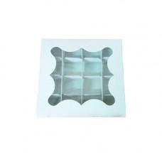 Коробка под пряник 150х150х30 со вставкой мелов. картон 3 ч. - image