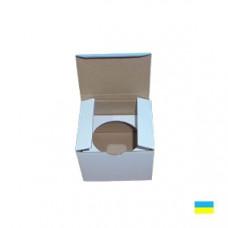 Коробка под кекс 85х85х85 (1 шт.) со вставкой микрогофр. картон 2 ч.