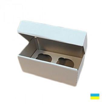 Коробка под кекс 195х100х80 (2 шт.) со вставкой микрогофры. картон 2 ч.