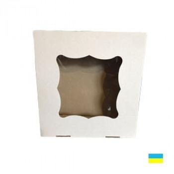 Коробка под кекс 260х260х90 без вставки (под 9 шт.по 6 см) микрогофр. картон 1 ч.