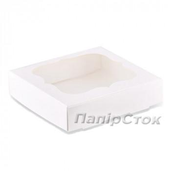 Коробка под кекс 340х250х90 без вставки, мелов. картон 1ч