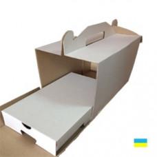 Коробка под кейк попс 242х145х175 (10 шт.) со вставкой микрогофр. картон 3 ч.