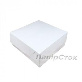 Коробка под кекс 250х250х90 со вставкиами мелов.картон 2ч.