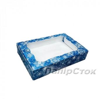Коробка Синяя Снежинка 100х150х30