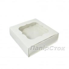 Коробка для пряника біла 120х120х30