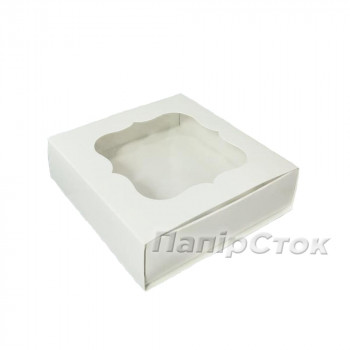 Коробка под пряник белая 120х120х30