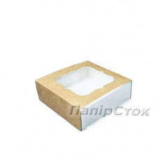 Коробка для пряника крафт 80х80х35