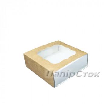 Коробка под пряник крафт 80х80х35