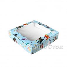 Коробка для пряника бирюз.Сказка 150х150х30 без вставки