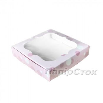 Коробка для пряника Нежность 150х150х30 без вставки