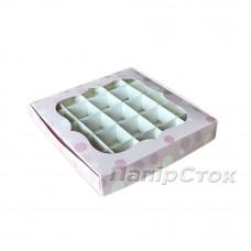 Коробка для пряника Нежность 200х200х30 со вставками