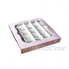 Коробка для пряника Одуванчик 200х200х30 со вставками