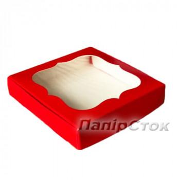 Коробка для пряника красная 150х150х30 без вставки