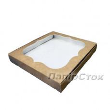 Коробка под пряник крафт 200х200х30 - image