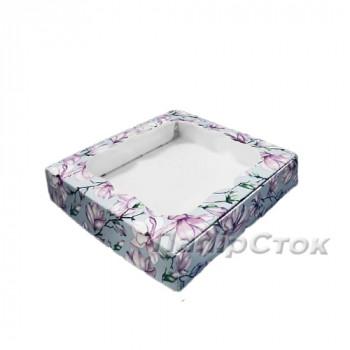 Коробка под пряник Магнолия 150х150х30