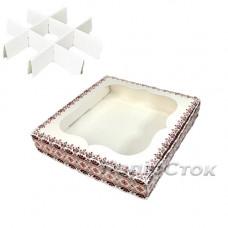 Коробка для пряника Вышиванка 150х150х30 со вставками
