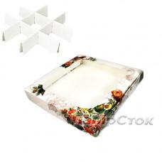 Коробка для пряника Калина 150х150х30 со вставками