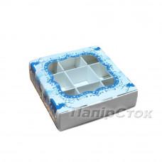 Коробка для пряника Олени 120х120х30 со вставками