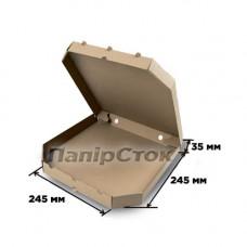 Гофрокоробка 245х245х35 коричневая - image