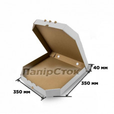 Гофрокоробка 350х350х40 біла