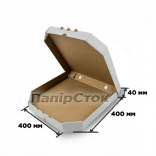 Гофрокоробка 400х400х40 белая - image