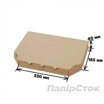 Гофрокоробка 330х165х40 коричневая (кальцоне)