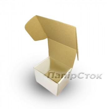 Коробка с микрогофр. белая 114х95х100 самосборная