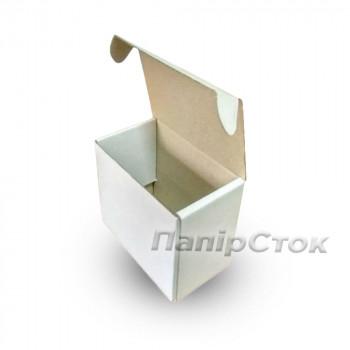 Коробка с микрогофр. белая 100х60х80 самосборная
