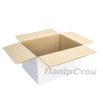 Коробка 3-х слойная белая 400х300х210 самозборная
