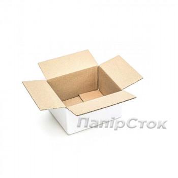 Коробка с микрогофр.  белая 210х175х110 (Т22С) самосборная