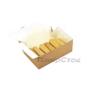 Коробка с мелов.картон. крафт 215х135х70, самосборная,2ч