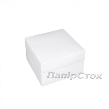 Коробка с мелов.картон. белая 200х200х100 самосборная,2ч