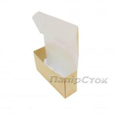 Коробка с мелов.картон. крафт 220х60х100, самосборная,2ч