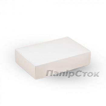 Коробка з мелов.картон. белая 240х160х50 самосборная