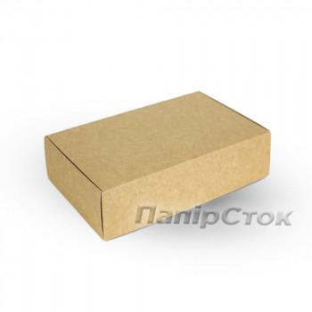 Коробка з мелов.картон. крафт 240х160х50 самосборная