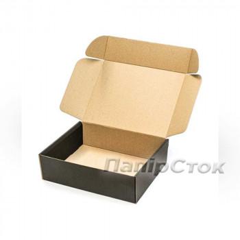 Коробка с микрогофр. черная 300х240х90 самосборная