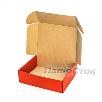 Коробка с микрогофр. красная 300х240х90 самосборная