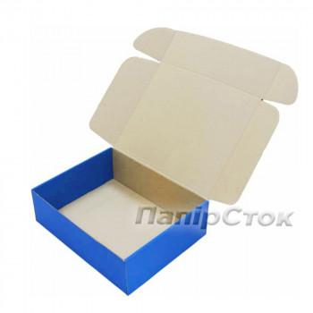 Коробка с микрогофр. синяя 300х240х90 самосборная