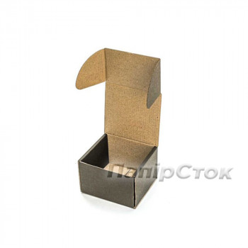 Коробка с микрогофр. черная 90х90х60 самосборная