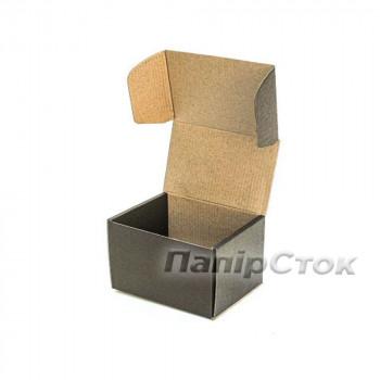 Коробка с микрогофр. черная 160х85х110 самосборная