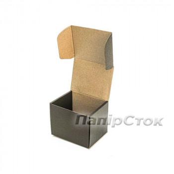 Коробка с микрогофр. черная 114х95х100 самосборная
