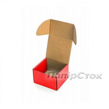 Коробка с микрогофр. красная 90х90х60 самосборная