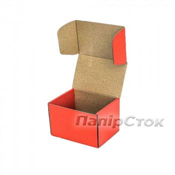 Коробка с микрогофр. красная 160х85х110 самосборная
